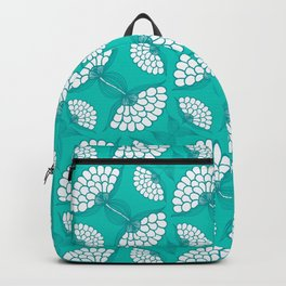 African Floral Motif on Turquoise Backpack