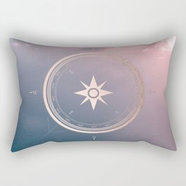 The Edge of Tomorrow - Rosegold Compass Rectangular Pillow