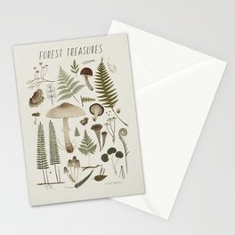 Forest treasures on light background Stationery Cards