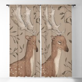 The Fallow Deer and Oats Blackout Curtain