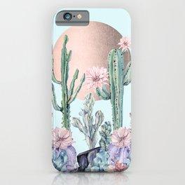 Desert Sun + Gemstones Bronze Turquoise iPhone Case