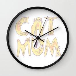 Cat Mom Wall Clock
