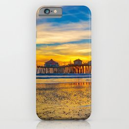 Textured Sand at Sunset iPhone Case