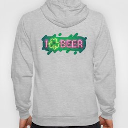 I Like Beer Neon Sign Hoody