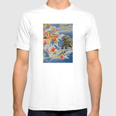 In the Clouds Mens Fitted Tee White MEDIUM