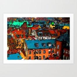 Copenhagen Rooftops Art Print