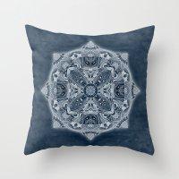 blueprint Throw Pillows featuring Natural Blueprint by DebS Digs Photo Art