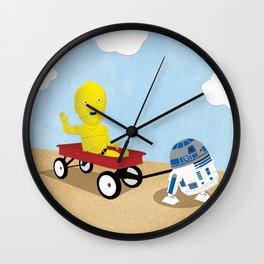 SW Kids - C3PO & R2D2 Red Wagon Wall Clock