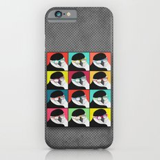 Chinstrap Penguins Pop Art vertical digital paper collage iPhone 6s Slim Case