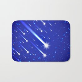 Space background with stars and comets Bath Mat