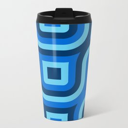 Blue Truchet Pattern Travel Mug