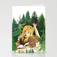 laura palmer Stationery Cards featuring Twin Peaks Secret Diary of Laura Palmer by Lindsey Caneso