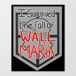 I Survived the Fall of Wall Maria Canvas Print