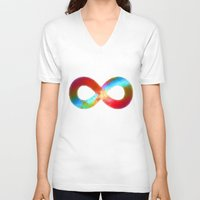 infinite V-neck T-shirts featuring Infinite by deff