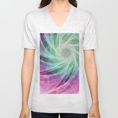 Whirlpool Diamond 2 Computer Art Unisex V-Neck