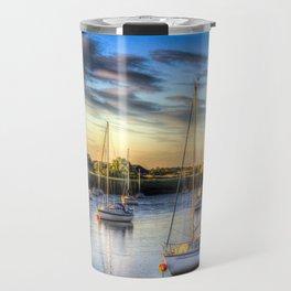 River at Sunset Travel Mug
