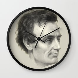 Abraham Lincoln Without Beard, 1860 Wall Clock