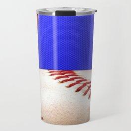 Baseball Sports on Blue and Red Travel Mug