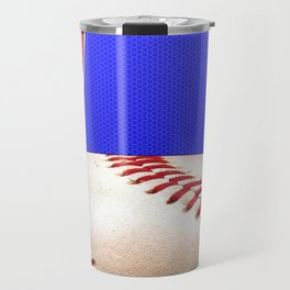 Baseball Sports on Blue and Red Travel Mug