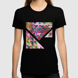 Abstract Hot Pink Banana Leaves Design T-shirt