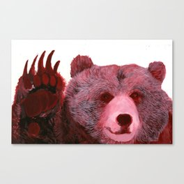 Red Grizzly Canvas Print