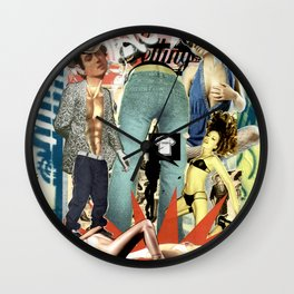 COLLAGE: Fashion Addicted Wall Clock