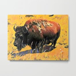 Muddy Buffalo Metal Print