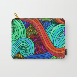 Psychedelic Lines (Red) Carry-All Pouch