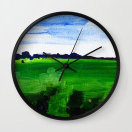 Field of Greens Wall Clock