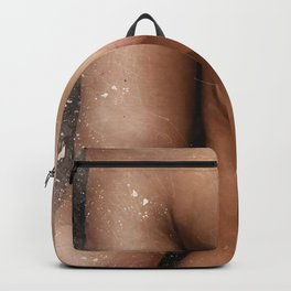 Femenine Nude Breast. Watercolor Backpack
