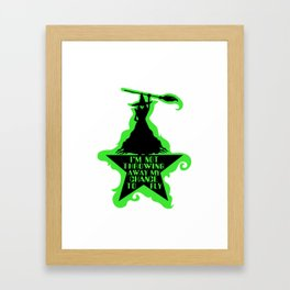Chance To Fly Framed Art Print