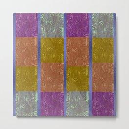 tribal mudcloth gemstone quilt 1 Metal Print