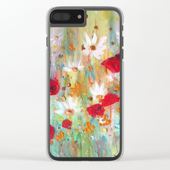 A summer meadow Clear iPhone Case