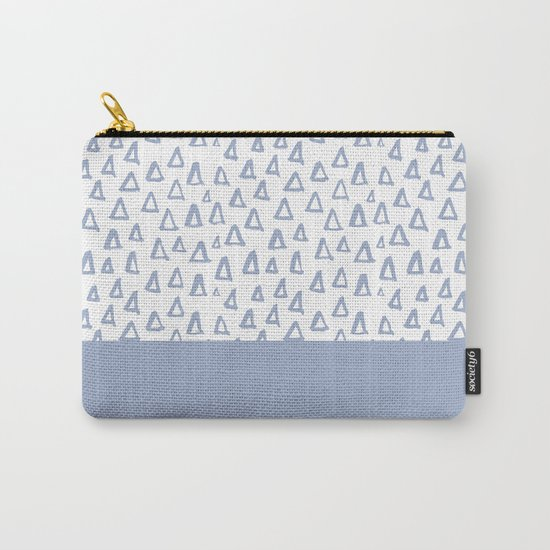 Triangles Light Blue Carry-All Pouch