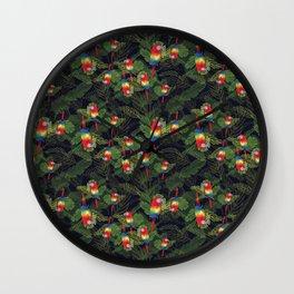 Watercolor Macaw Wall Clock