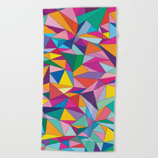 Triangles in color Beach Towel