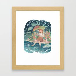 By the Pond Framed Art Print