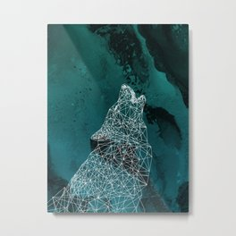 Midnight Wolfie II Metal Print