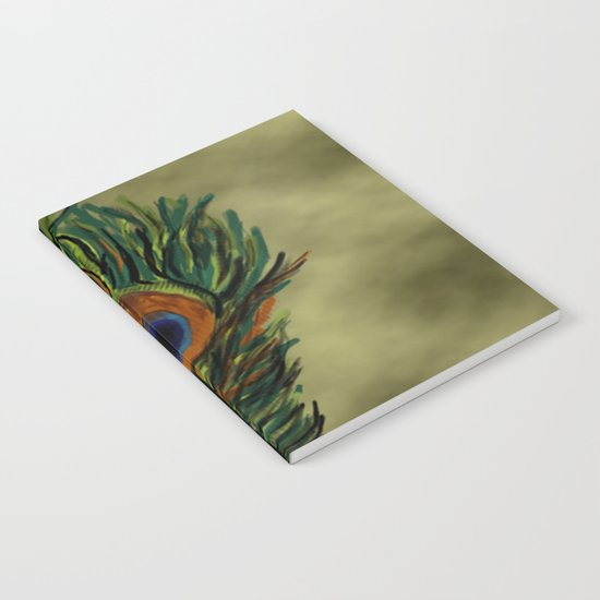 Peacock Pattern  Notebook
