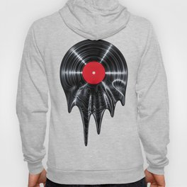 Melting vinyl / 3D render of vinyl record melting Hoody