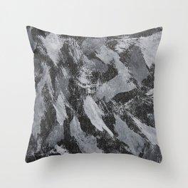 White Ink on Black Background #2 Throw Pillow