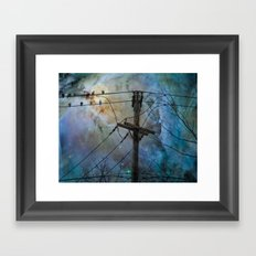 Night Spark Framed Art Print