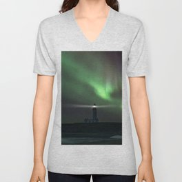 When the northern light appears Unisex V-Neck