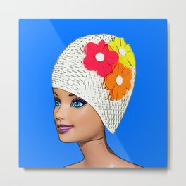 Vintage Swimmer! Cool Pop Art! Metal Print