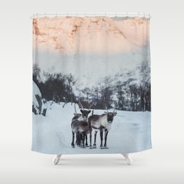 Hitch-hikers - Landscape and Nature Photography Shower Curtain