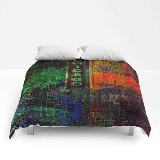 A night in Chicago Comforters