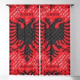 Albanian flag pattern 2 Blackout Curtain