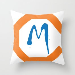 Monster M Throw Pillow