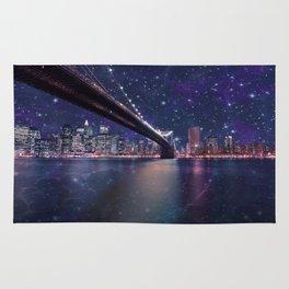 Spacey Manhattan Skyline  Rug