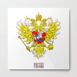 Coat of arms of Russia Metal Print